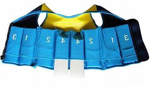 Titop Infant Sports Swim Vest 35 Children Swimming Learner Blue+Yellow Style With New Cross Belt