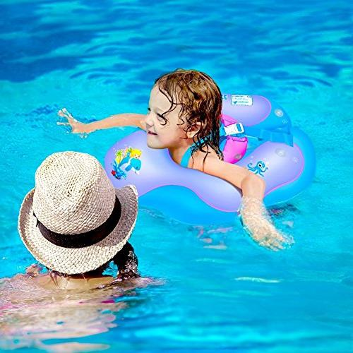 Waitiee Free Inflatable Float Children Waist Inflatable Swimming Pool Toys Bathtub Pools Swim Trainer 6-30month