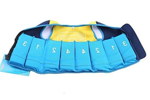 Titop Jacket Blue+Yellow for Swim Outdoor Sports