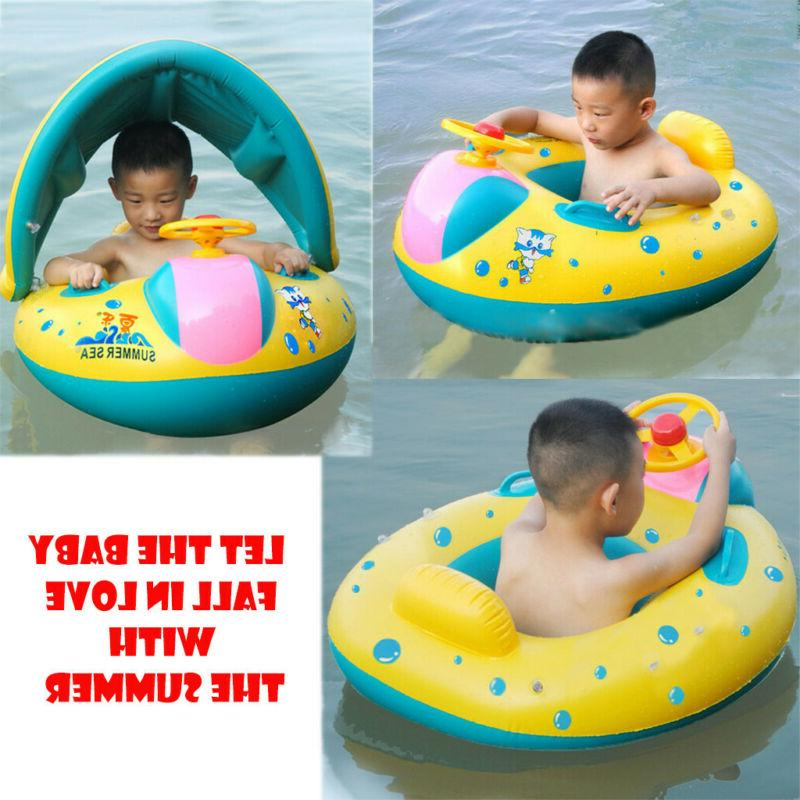 Swimming Pool Baby Float Boat Toy Sunshade