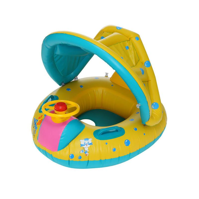 Swimming Pool Inflatable Float Water Toy with Sunshade