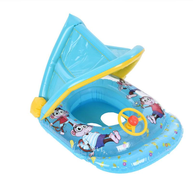 Swimming Ring Sun Canopy Inflatable Baby Sunshade Swimming Boat