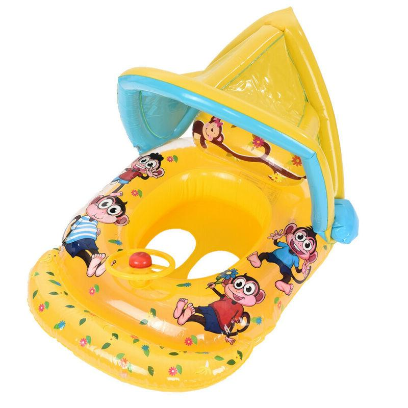 Swimming Canopy Inflatable Float Sunshade Boat Seat