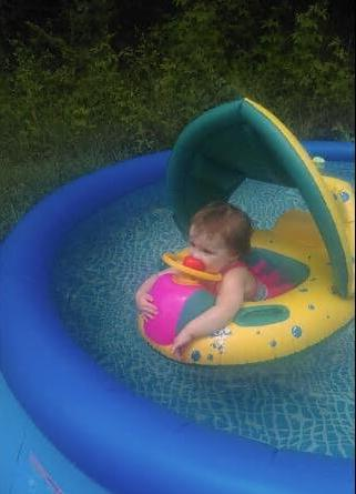 Baby Swimming Float Sunshade Inflatable Boat