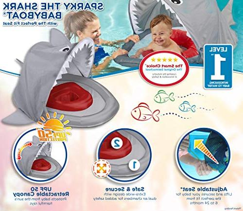 SwimSchool ET9151 Sparky-The-Shark Baby Retractable UPF Pool 24 Months,