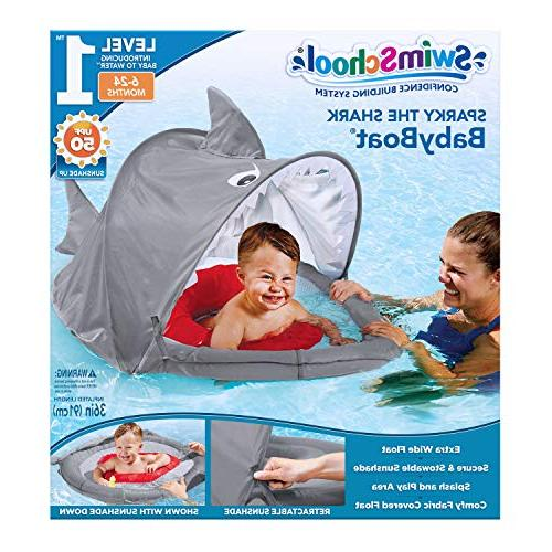 SwimSchool Baby UPF Inflatable Pool Float, to 24 Months,