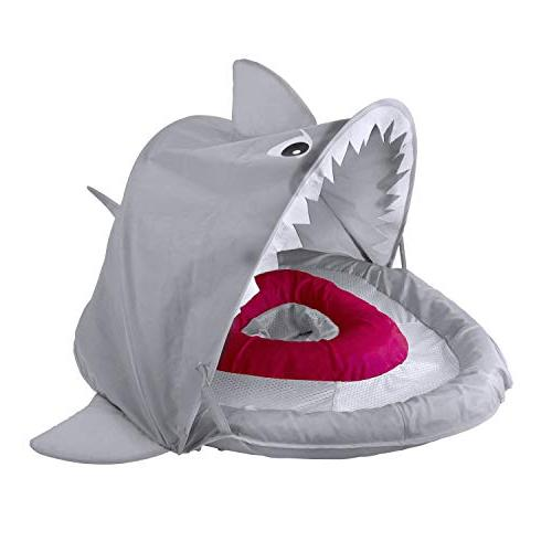 SwimSchool ET9151 Sparky-The-Shark Baby Retractable UPF 50, Pool Float, 24 Months, Grey