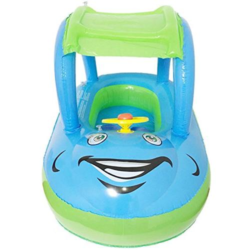 TINTON LIFE Toddler Baby Infant Inflatable Swimming Cartoon Boat Canopy 6-36 Months 1