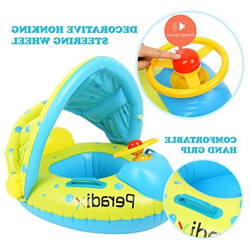 Peradix Baby Float Toys Inflatable Sunshade Swimming Pool Floating