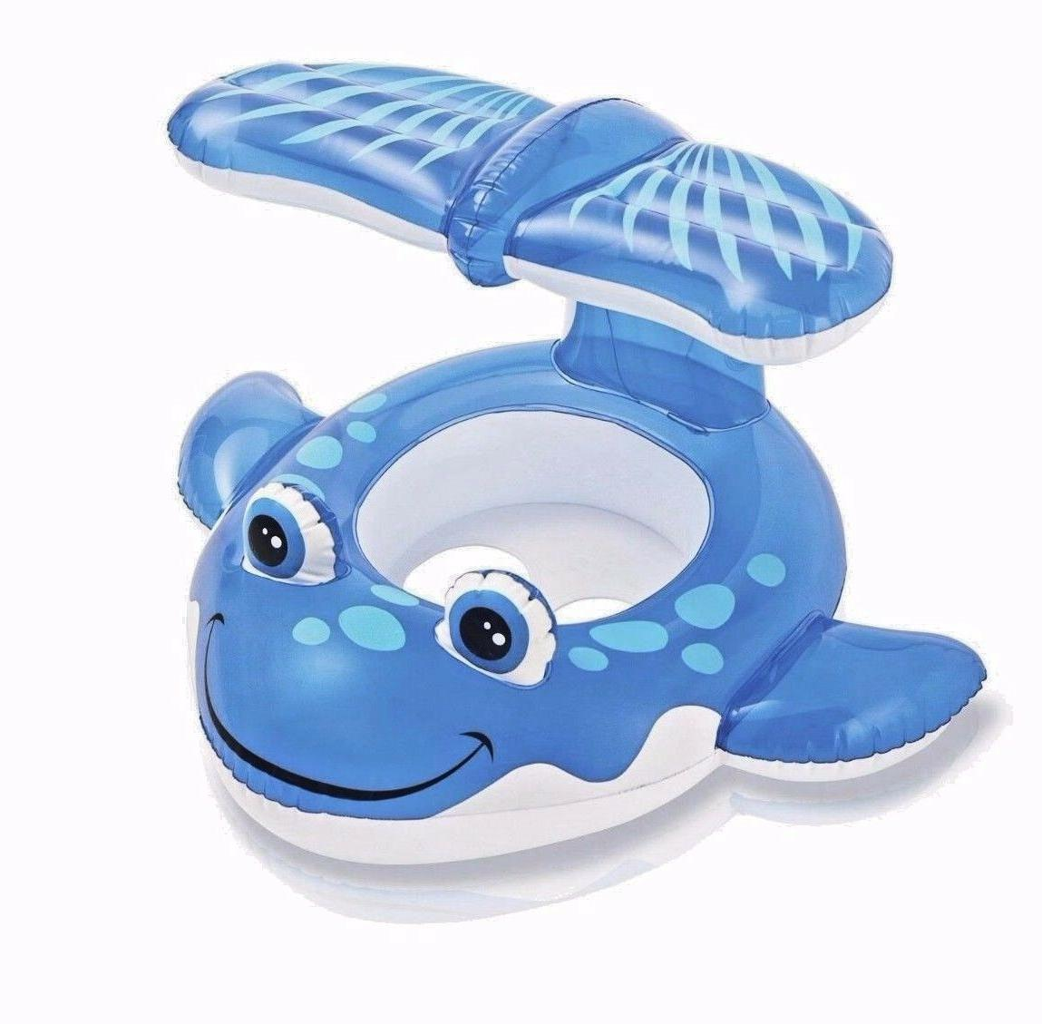 Intex Whale Inflatable Sit Pool Party WaterToy