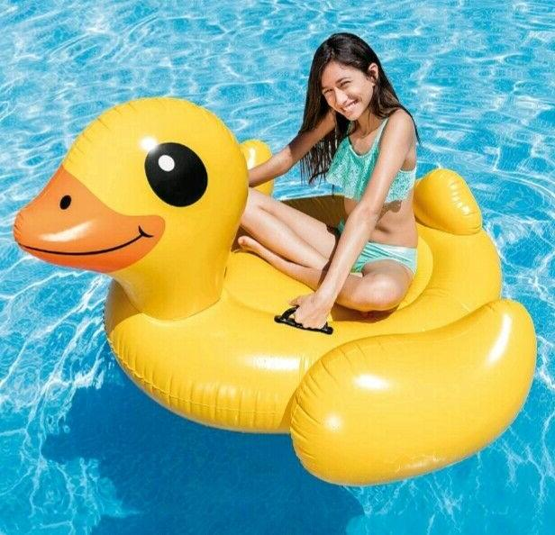 yellow duck ride inflatable swimming