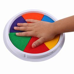Livoty Clearance! 6 Colors DIY Ink Pad Stamp Finger Painting