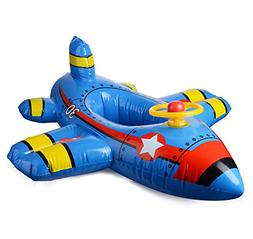 Moonvvin Lovely Aircraft Swimming Ring Inflatable Baby Float