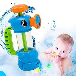 Lovely Duck pump water spray toy,Coohole Kids Water Toys Duc
