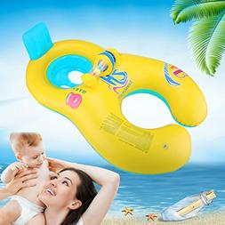 Mommy and Baby Inflatable Baby Pool Float Toys Raft Play wit