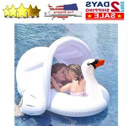 NEW Baby Pool Float Infant Swim Ring with Canopy Water Toys