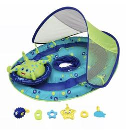 New SwimWays Baby Spring Float Activity Center with Canopy,