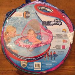 NEW Swimways Baby Spring Float Sun Canopy Ages 9-24 M Pink/B