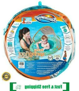 New Swimways Baby Spring Float with sun Canopy - Sea Life Te