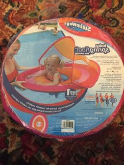 NEW SWIMWAYS BABY SPRING FLOAT WITH SUN CANOPY 9-24 MONTHS