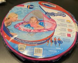 NEW Swimways Baby Spring Pool Float Sun Canopy Step 1 Pink A