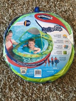 NEW Swimways Baby Spring Pool Float Sun Canopy Green Sea Lif