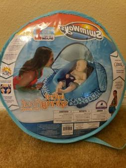 NEW Swimways Infant Baby Spring Float with Canopy - BLUE W/
