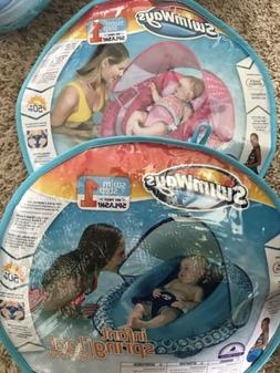 NEW SwimWays Infant Spring Float Sun With Canopy 3-9 Months