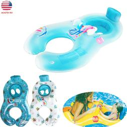 New Inflatable Mother Baby Soft Swim Float Raft Kid's Chair