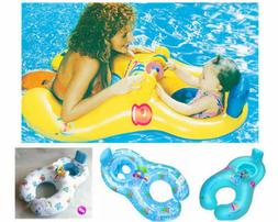 New Inflatable Mother Baby Swimming Ring with Seat Floaties