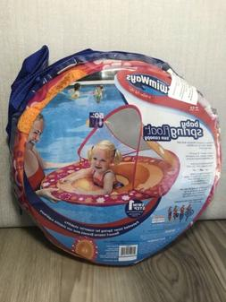 NEW SwimWays PINK 9-24 Mos Baby Spring Float Sun Canopy Flor