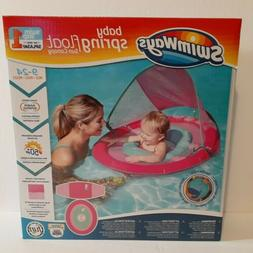 NEW Pink SwimWays Baby Spring Float Sun With Canopy Baby