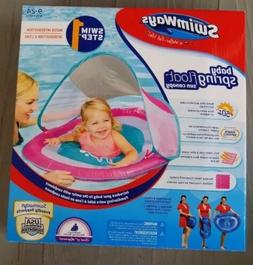 NEW!! SWIMWAYS SWIM STEP 1 BABY SPRING FLOAT SUN CANOPY AGES