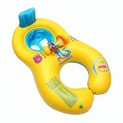 VORCOOL Parent-child Pool Float Inflatable Swimming Ring Bab