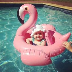 Flamingo Baby Kids Swimming Raft Inflatable Pool Float