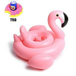 Loveyikee Pink Flamingo White Swan Baby Swim Ride-On Float S