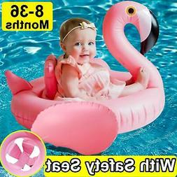 Pool Float Flamingo Baby Inflatable Safety Seat Boat Swimmin