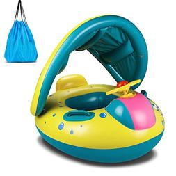 Baby Pool Float, Topist Baby Inflatable Swimming Ring With A