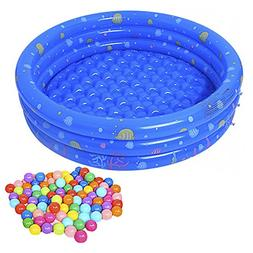 Baby Pool, Inflatable Swimming Pool with 50Pcs BPA Free Crus