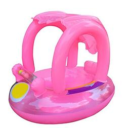 Moonvvin Portable Toddlers Swimming Ring Inflatable Baby Flo
