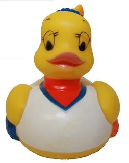 Rubber Duck Cheerleader, Waddlers Brand Bathtub Toy Rubber D