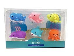 Rittle Sea Animals, Cute Floating Light-up Bath Toys