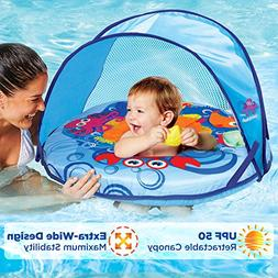 SwimSchool Self-Inflating, Unsinkable, Fabric Baby Boat, Zip