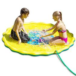 D SERIES Sprinkle & Splash Play Mat - Two Valves Quick Drain