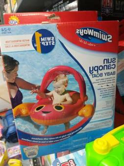 Swimways Sun Canopy Baby Boat Pool Floats Crab 9-24 Months