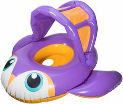 SwimWays Sun Canopy Baby Boat Swim Step 1 Inflatable Float 9