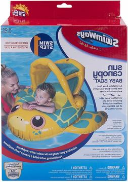 SwimWays Sun Canopy Baby Boat, Turtle