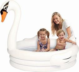 swan inflatable kiddie pool