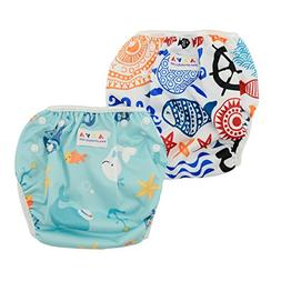 ALVABABY Swim Diapers Reuseable One Size for Boys and Girls