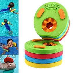 Pawaca 8Pcs Baby Kids Swim Float Discs, Arm Band Set for Chi